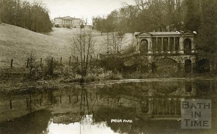 Prior Park and Palladian Bridge, Bath c.1920