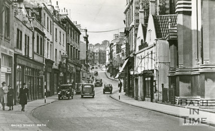 Broad Street and the Saracen's Head, Bath c.1940