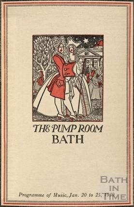 Cover to the Pump Room Programme of Music 1930