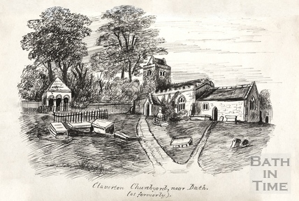 Claverton Churchyard (as formerly) c.1893