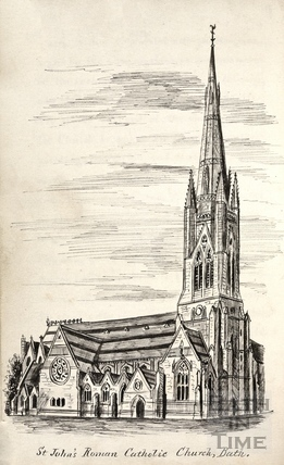 St Johns Roman Catholic Church, Bath c.1893