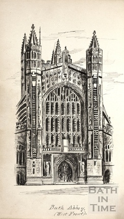 West front, Bath Abbey, Bath c.1893