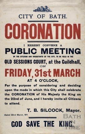 Coronation public meeting, Guildhall, Bath 1911