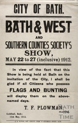 Bath & West and Southern Counties Society's Show 1912