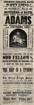 Poster advertising Cooke's Circus, Bath 1852