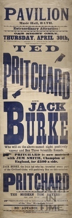 Ted Pritchard and Jack Burke boxing match, Pavilion Music Hall, Bath 1891