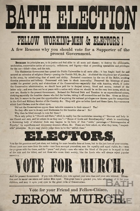 Bath Election - Fellow Working-men & Electors