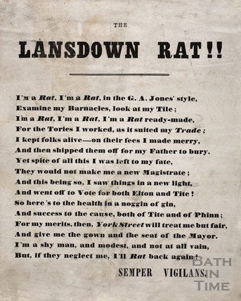 The Lansdown Rat, Bath (c.1850-1860)