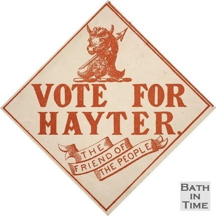 Vote for Hayter, Bath c.1873-1885