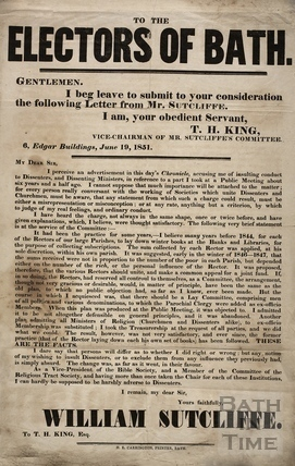 To the Electors of Bath 1851