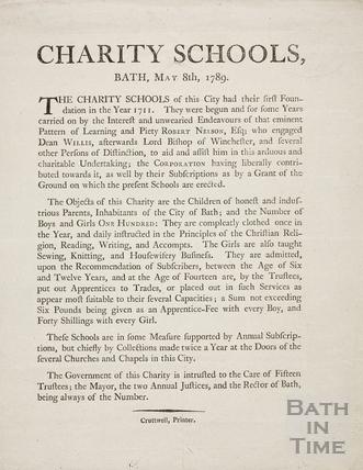 Charity Schools, Bath 1789