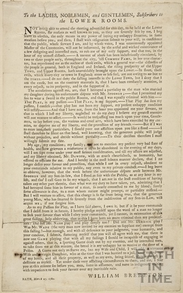 Description of the duel between William Brereton and Captain Spooner, Bath 1780