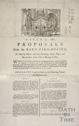Proposals from the Bath Fire Office 1767