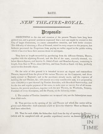 New Theatre Royal Proposals, Bath