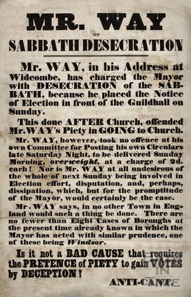 Mr. Way on Sabbath Desecration, Guildhall, Bath 1859