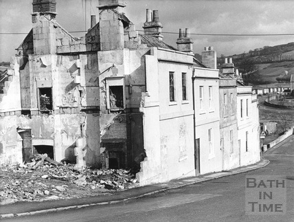 Worcester Buildings, Larkhall, Bath 1973