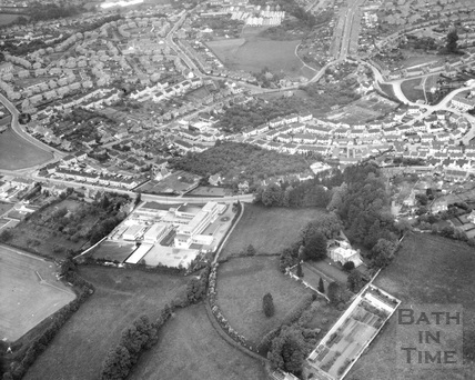 Aerial view of Westhill Boys School, Bath 1969
