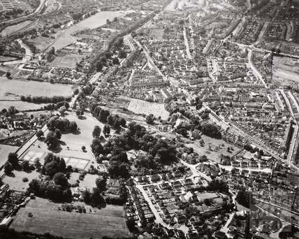 Aerial view of Larkhall and Lambridge, Bath 1950s