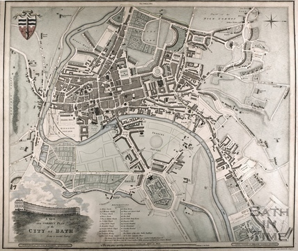 A New and Correct Plan of the City of Bath from a recent survey 1816