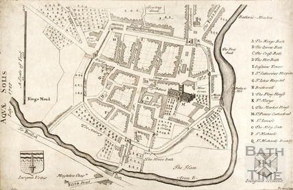 Map of Aquae Solis (Bath) 1723