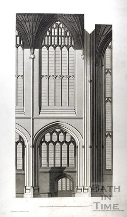 Detail from inside Bath Abbey 1798