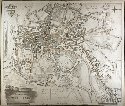 A New and Correct Plan of the City of Bath from a recent survey c.1830