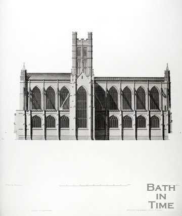 North elevation, Bath Abbey, Bath 1798