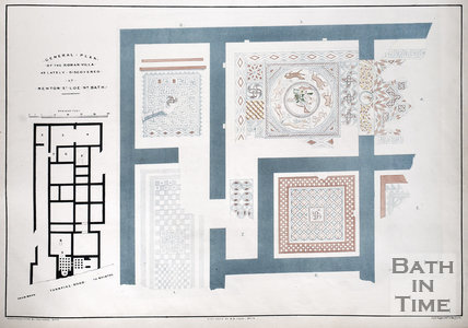 General Plan of the Roman Villa as lately discovered at Newton St. Loe 1839