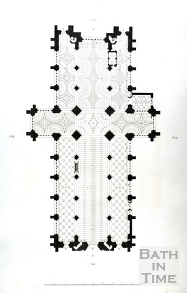 Plan of the Abbey Church, Bath 1798
