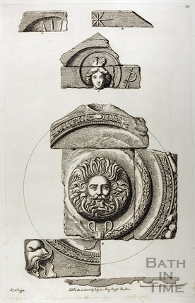 The Gorgon's head and pediment, Bath 1794