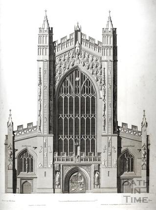 West front, Bath Abbey, Bath 1798