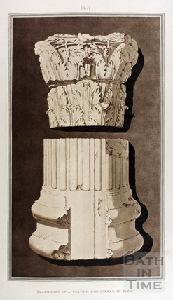 Fragments of a Column discovered at Bath 1802