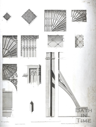 Architectural details, Bath Abbey, Bath 1798