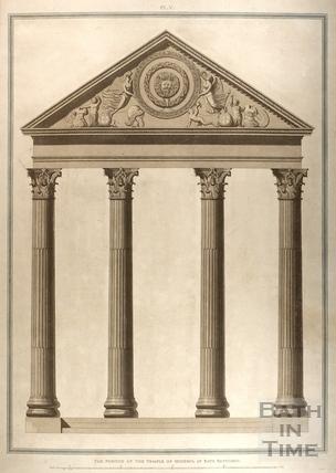 The Portico of the Temple of Minerva at Bath Restored 1802