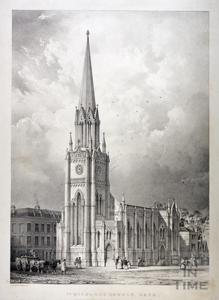 St. Michael's Church, Bath c.1837