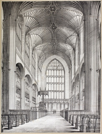 Interior view of Bath Abbey, Bath c.1840