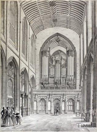 Interior view of Bath Abbey, Bath