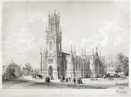 St. Stephen's Church, Bath c.1842