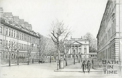 Great Pulteney Street and the Holburne Museum, Bath 1939