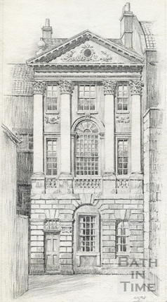 Ralph Allen's town house behind Terrace Walk, Bath 1939