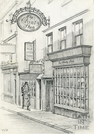 The original Bath Oliver biscuit shop, Green Street, Bath 1939