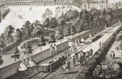 Prior Park, the Seat of Ralph Allen Esq. near Bath (and repeated in French) 1750 - detail