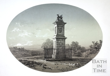 The Bevil Greville Monument on Lansdown, Bath c.1810