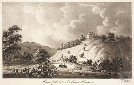 House of the late Sir Caesar Hawkins, Kelston Manor c.1800