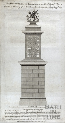 The Monument on Lansdown near the City of Bath