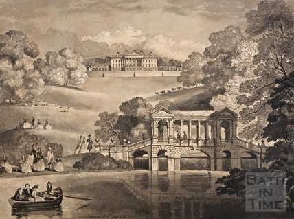 The Palladian Bridge and Prior Park, Bath in Georgian times