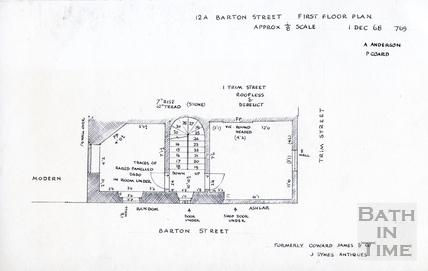 12A, Barton Street, Bath 1 Dec 1968