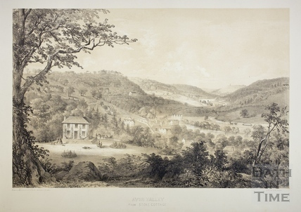 Avon Valley from Stoke Cottage near Limpley Stoke c.1850