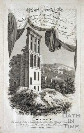 Ruin at Camden Place, Bath 1809