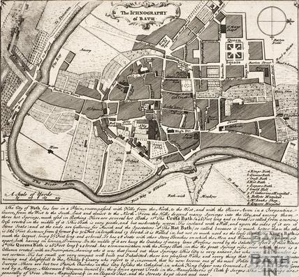 The Ichnography of Bath c.1740 - detail